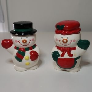 ❄ Russ : Vintage Mr & Mrs Snowman Shakers